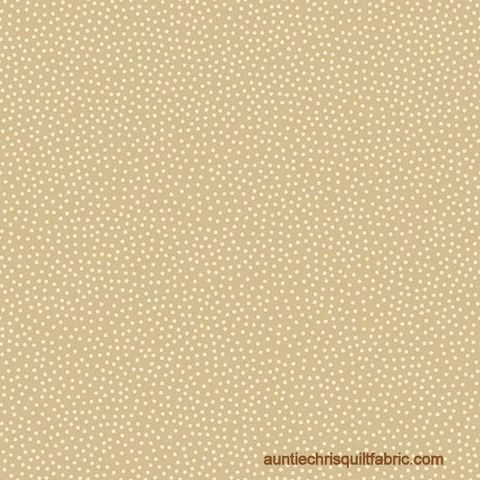 Cotton,Quilt,Fabric,Winter,Wonderland,Scattered,Dots,Tan,,quilt backing, dresses, quilt fabric,cotton material,auntie chris quilt,sewing,crafts,quilting,online fabric,sale fabric