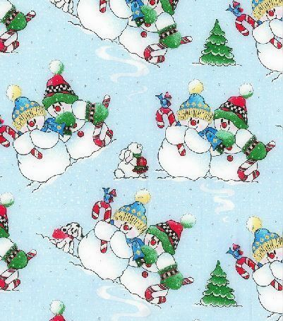 Cotton Quilt Fabric Christmas Playful Snowmen Glitter    - product images  of