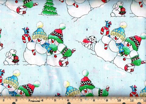 Cotton,Quilt,Fabric,Christmas,Playful,Snowmen,Glitter,,quilt backing, dresses, quilt fabric,cotton material,auntie chris quilt,sewing,crafts,quilting,online fabric,sale fabric