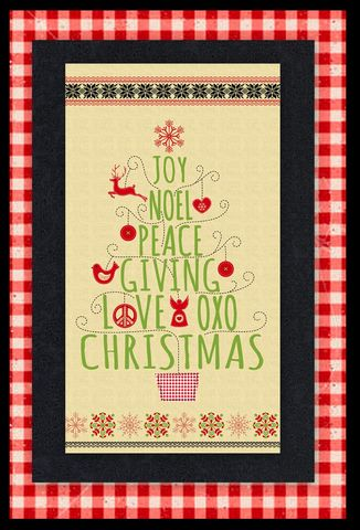 Easy,Peace,Joy,Love,Whimsical,Christmas,Panel,Quilt,Kit,Beginners,quilt fabric,cotton material,auntie chris quilt,sewing,crafts,quilting,online fabric,sale fabric
