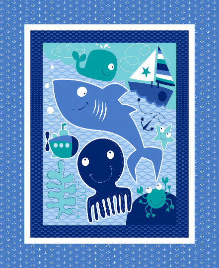Panel Plus Kit Nursery Seawater Friends Sailing Whales Sailboats - product image