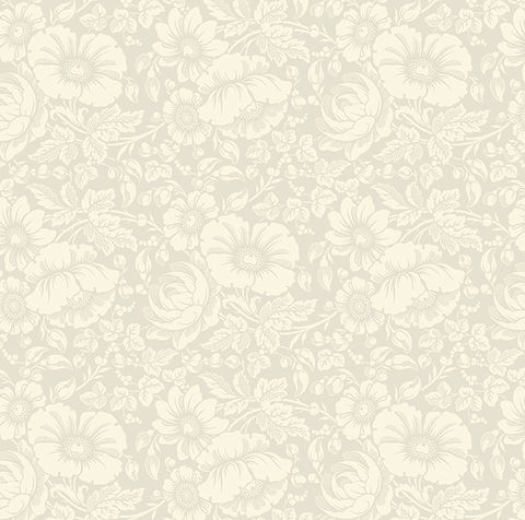 Cotton,Quilt,Fabric,Gilded,Flowers,Ivory,on,Large,Floral,,quilt backing, dresses, quilt fabric,cotton material,auntie chris quilt,sewing,crafts,quilting,online fabric,sale fabric