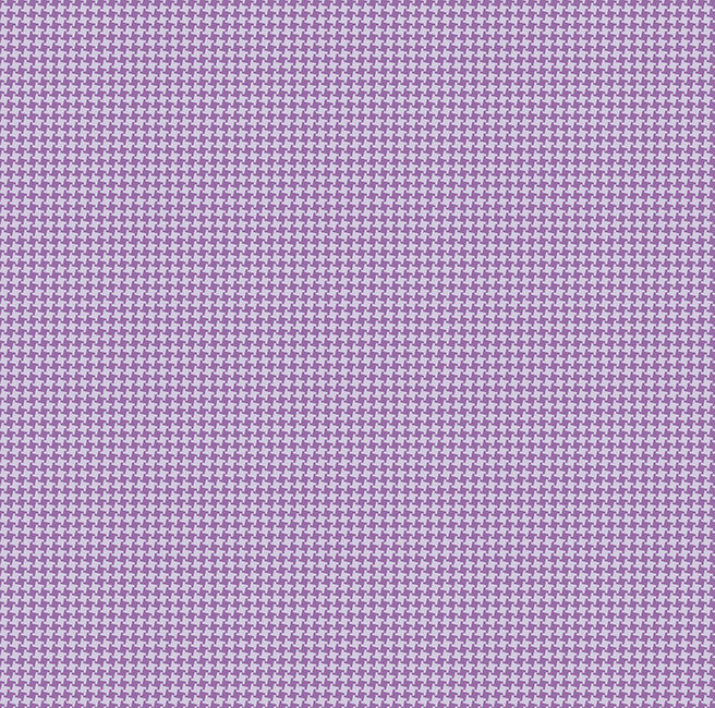 Cotton Quilt Fabric Mosaic Blooms Violet Houndstooth - product image