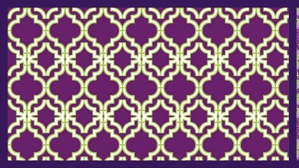 Cotton Quilt Fabric Tranquility Trellis Grape Juice - product image
