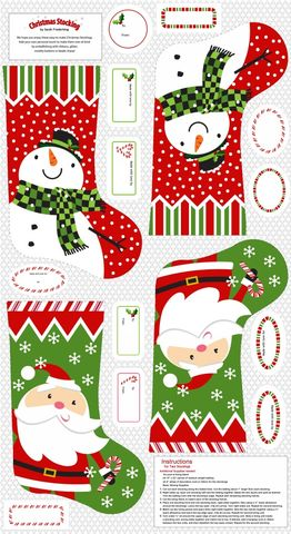 Cotton,Quilt,Fabric,STUDIO,E,A,CHRISTMAS,WISH,24,STOCKING,Panel,,quilt backing, dresses, quilt fabric,cotton material,auntie chris quilt,sewing,crafts,quilting,online fabric,sale fabric