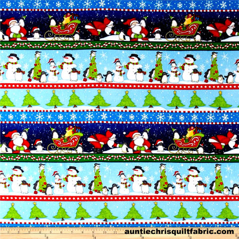 Cotton,Flannel,Quilt,Fabric,North,Pole,Greetings,Blue,Christmas,Stripe,,quilt backing, dresses, quilt fabric,cotton material,auntie chris quilt,sewing,crafts,quilting,online fabric,sale fabric