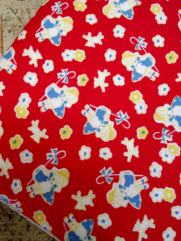 Cotton Quilt Fabric Riley Blake Toy Chest 2 Red Thirties Bo Peep Nursery  - product images  of