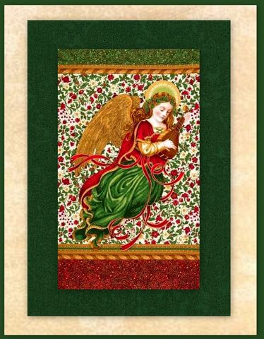 Holiday,Flourish,Angel,Easy,Christmas,Panel,Quilt,Kit,Beginners,Wall,quilt fabric,cotton material,auntie chris quilt,sewing,crafts,quilting,online fabric,sale fabric