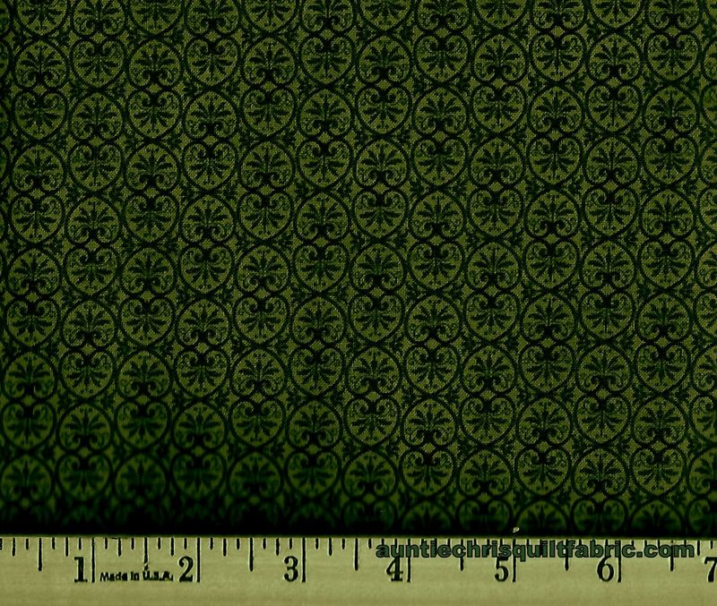 Cotton Quilt Fabric Glamour Pine Tone On Tone Floral - product images  of