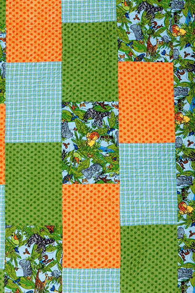 Easy Brick Baby Flannel Quilt Clutch Ball Kit Kozy Quick - product images  of