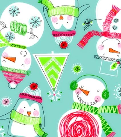 Cotton,Flannel,Quilt,Fabric,Winter,Snowmen,Penguins,Christmas,Blue,,quilt backing, dresses, quilt fabric,cotton material,auntie chris quilt,sewing,crafts,quilting,online fabric,sale fabric