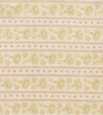 Cotton Quilt Fabric Fleur Floral Stripe Reproduction Cream Tan - product images  of