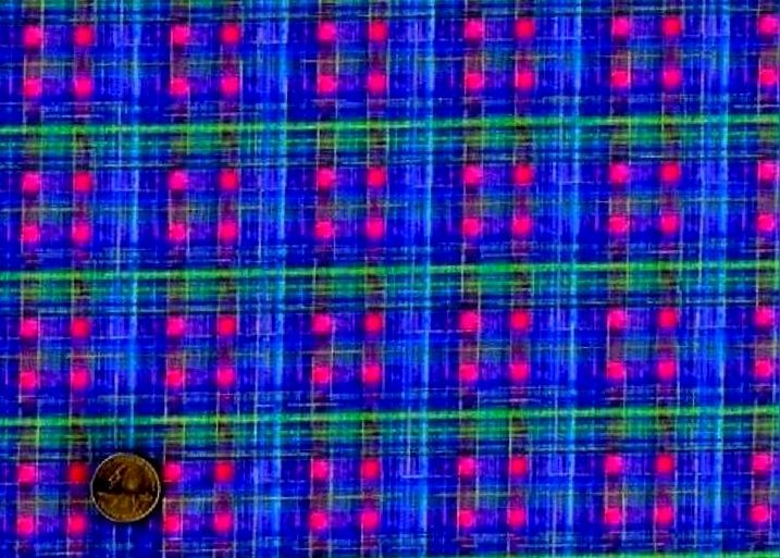 Cotton Quilt Fabric Galaxy Sara Moe Blue Jewel Plaid - product images  of