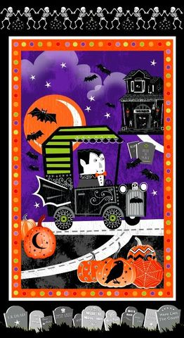 Cotton,Quilt,Fabric,Fangtastic,Glow,In,The,Dark,Halloween,23.5x44,,quilt backing, dresses, quilt fabric,cotton material,auntie chris quilt,sewing,crafts,quilting,online fabric,sale fabric