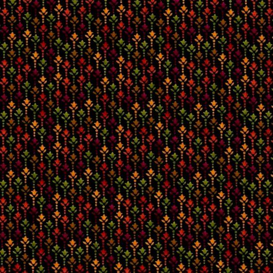Cotton Quilt Fabric Harvest Gathering Black Ditsy  - product images  of