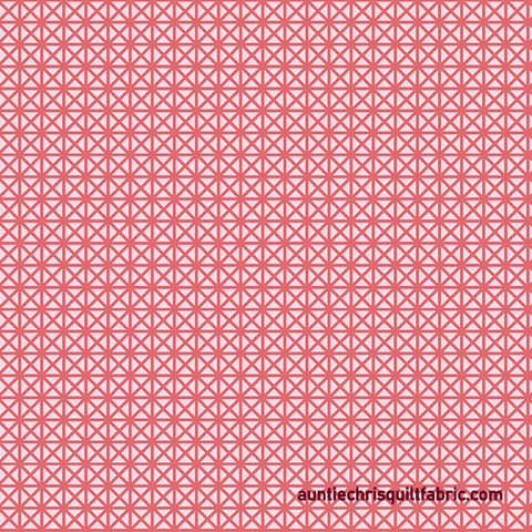 Cotton,Quilt,Fabric,Emma,&,Myrtle,Grid,Coral,Reef,Pink,Tone,On,,quilt backing, dresses, quilt fabric,cotton material,auntie chris quilt,sewing,crafts,quilting,online fabric,sale fabric