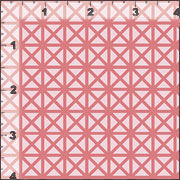 Cotton Quilt Fabric Emma & Myrtle Grid Coral Reef Pink Tone On Tone - product images  of