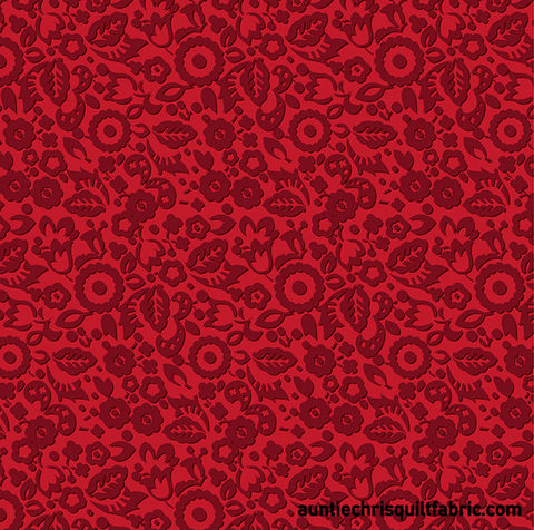 Cotton,Quilt,Fabric,Flowers,For,Scarlet,Crimson,Red,Tone,On,,quilt backing, dresses, quilt fabric,cotton material,auntie chris quilt,sewing,crafts,quilting,online fabric,sale fabric