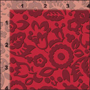 Cotton Quilt Fabric Flowers For Scarlet Crimson Red Tone On Tone - product images  of