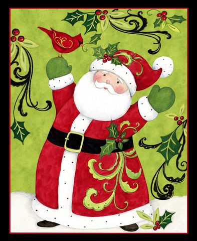 Cotton,Quilt,Fabric,Panel,Plus,Swirly,Santa,Cardinal,Christmas,Kit,,quilt backing, dresses, quilt fabric,cotton material,auntie chris quilt,sewing,crafts,quilting,online fabric,sale fabric