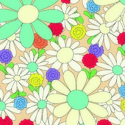 Cotton,Quilt,Fabric,Dear,Little,World,Playground,Tan,Aqua,Large,Floral,,quilt backing, dresses, quilt fabric,cotton material,auntie chris quilt,sewing,crafts,quilting,online fabric,sale fabric