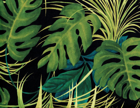 Cotton,Quilt,Fabric,Midnight,Isle,Large,Palm,Tropical,Leaves,Alexander,Henry,,quilt backing, dresses, quilt fabric,cotton material,auntie chris quilt,sewing,crafts,quilting,online fabric,sale fabric