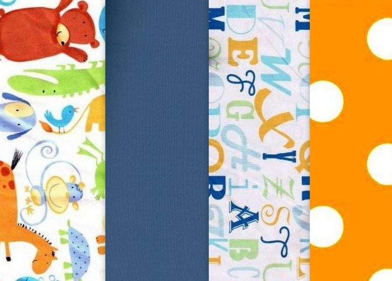 Quick Cuts Cotton Fabric Oh Boy Animals And Alphabet  2 Yard Medley  - product images  of