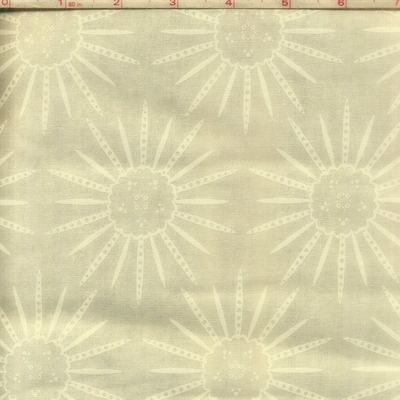 Cotton Quilt Fabric Alex Anderson Splash Sunflowers Off White - product image