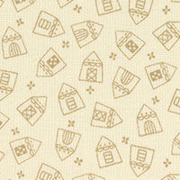 Cotton Quilt Fabric Houses American Country Collection Lecien - product images  of