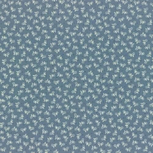 Cotton Quilt Fabric Bikes American Country Collection Lt Blue Lecien - product images  of