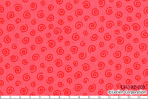 Cotton Quilt Fabric L'S MODERN FIESTA Pink Pop Swirl Lecien - product images  of