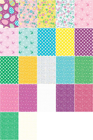 Cotton,Quilt,Fabric,Eggstraordinary,Blooms,Collection,10,Square,Stack,,quilt backing, dresses, quilt fabric,cotton material,auntie chris quilt,sewing,crafts,quilting,online fabric,sale fabric