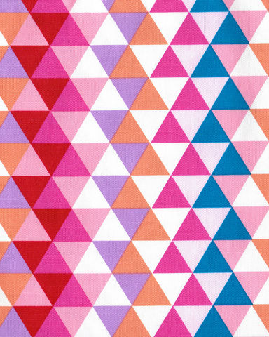 Cotton,Quilt,Fabric,Yuru,Modern,Geometric,Triangles,Pink,Multi,Japan,,quilt backing, dresses, quilt fabric,cotton material,auntie chris quilt,sewing,crafts,quilting,online fabric,sale fabric