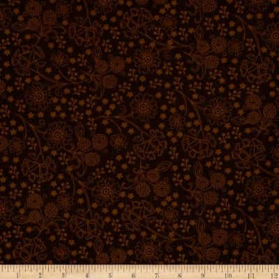 Cotton Quilt Fabric Spice Garden Tonal Floral Bohemian Brown  - product images  of
