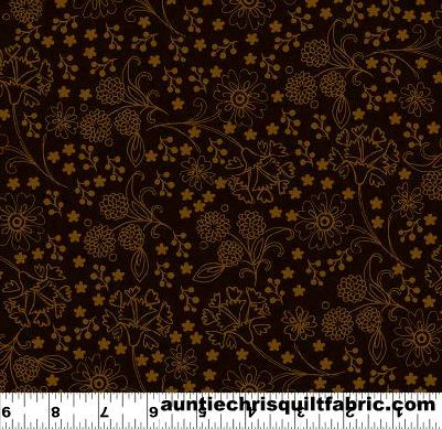 Cotton,Quilt,Fabric,Spice,Garden,Tonal,Floral,Bohemian,Brown,,quilt backing, dresses, quilt fabric,cotton material,auntie chris quilt,sewing,crafts,quilting,online fabric,sale fabric