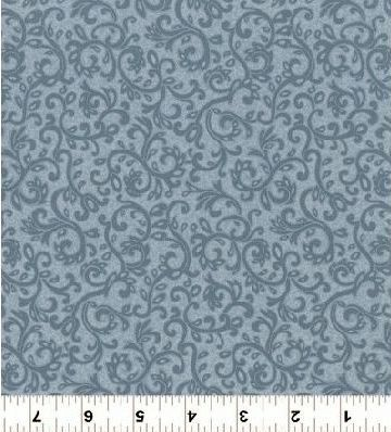 Cotton,Quilt,Fabric,Impressions,Scroll,Dusty,Dark,Blue,Tonal,Floral,,quilt backing, dresses, quilt fabric,cotton material,auntie chris quilt,sewing,crafts,quilting,online fabric,sale fabric