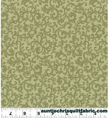 Cotton,Quilt,Fabric,Impressions,Scroll,Dusty,Olive,Green,Tonal,Floral,,quilt backing, dresses, quilt fabric,cotton material,auntie chris quilt,sewing,crafts,quilting,online fabric,sale fabric
