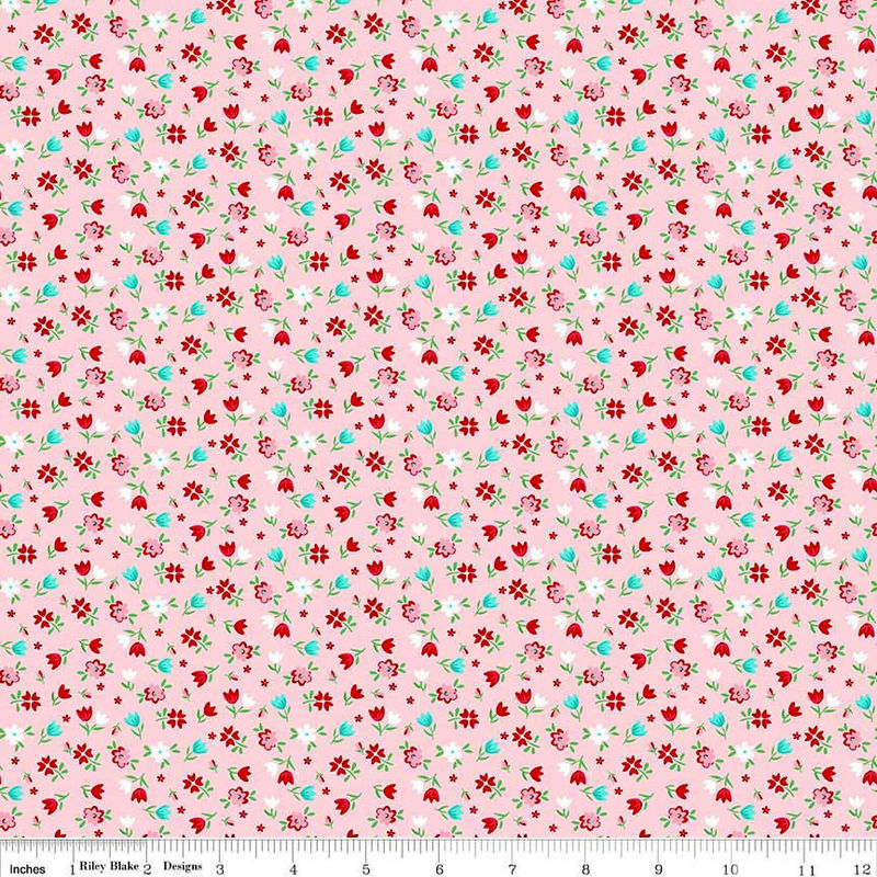 Cotton Quilt Fabric A Little Sweetness Floral Pink C6512 Flowers Feminine - product image