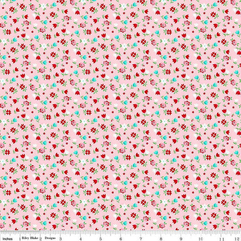 Cotton,Quilt,Fabric,A,Little,Sweetness,Floral,Pink,C6512,Flowers,Feminine,,quilt backing, dresses, quilt fabric,cotton material,auntie chris quilt,sewing,crafts,quilting,online fabric,sale fabric