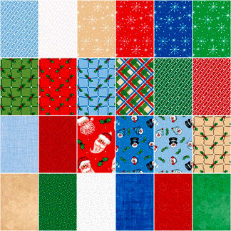 Cotton Quilt Fabric Hats N Holly Christmas 10
