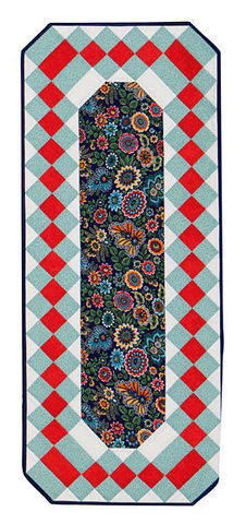 Table,Runner,Kit,Opulence,Folk,Blossom,Blue,Floral,12,x,30,quilt fabric,cotton material,auntie chris quilt,sewing,crafts,quilting,online fabric,sale fabric