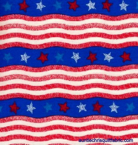 Cotton,Quilt,Fabric,Patriotic,Wavy,Stars,And,Stripes,Red,White,Blue,,quilt backing, dresses, quilt fabric,cotton material,auntie chris quilt,sewing,crafts,quilting,online fabric,sale fabric