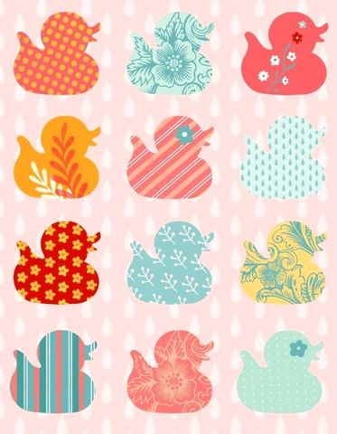 Cotton,Quilt,Fabric,Ducky,Tales,Nursery,Row,of,Ducks,Pink,Multi,,quilt backing, dresses, quilt fabric,cotton material,auntie chris quilt,sewing,crafts,quilting,online fabric,sale fabric