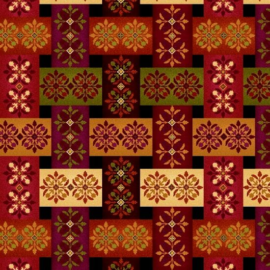 Cotton Quilt Fabric Studio E Fall Festival Plaid Ribbons Multi - product images  of
