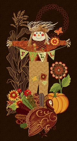Cotton,Quilt,Fabric,Studio,E,Fall,Festival,Autumn,Scarecrow,Panel,,quilt backing, dresses, quilt fabric,cotton material,auntie chris quilt,sewing,crafts,quilting,online fabric,sale fabric