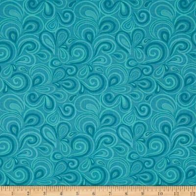 Cotton Quilt Fabric Big Splash Swirl Blue 6828 - product images  of