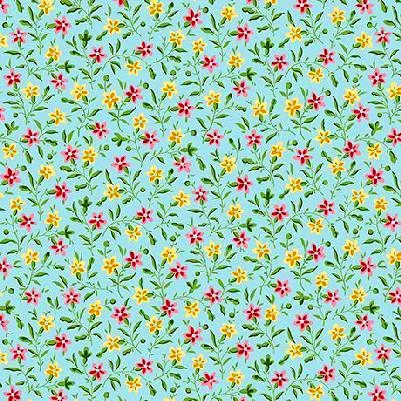 Cotton,Quilt,Fabric,Bleecker,Street,Blue,Quilting,Treasures,Floral,Calico,,quilt backing, dresses, quilt fabric,cotton material,auntie chris quilt,sewing,crafts,quilting,online fabric,sale fabric