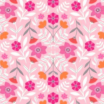 Cotton,Quilt,Fabric,Modern,SCANDINAVIAN,Daffodil,Flowers,Pink,,quilt backing, dresses, quilt fabric,cotton material,auntie chris quilt,sewing,crafts,quilting,online fabric,sale fabric