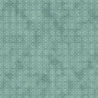 Cotton Quilt Fabric AVIARY  Square Stone Blue Tiles Tone On Tone  - product images  of