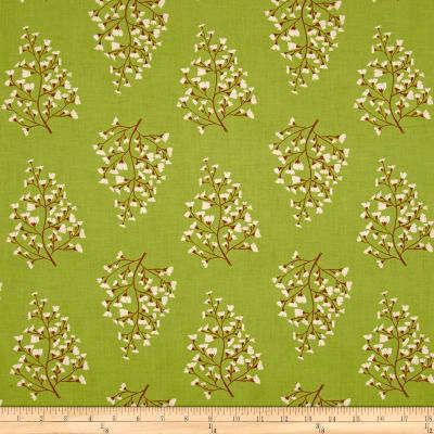Cotton Quilt Fabric Dear Stella Woodland Nymph Maiden Hair Fern Sap  - product images  of